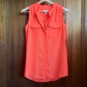 J. Crew Sleeveless Orange Top
